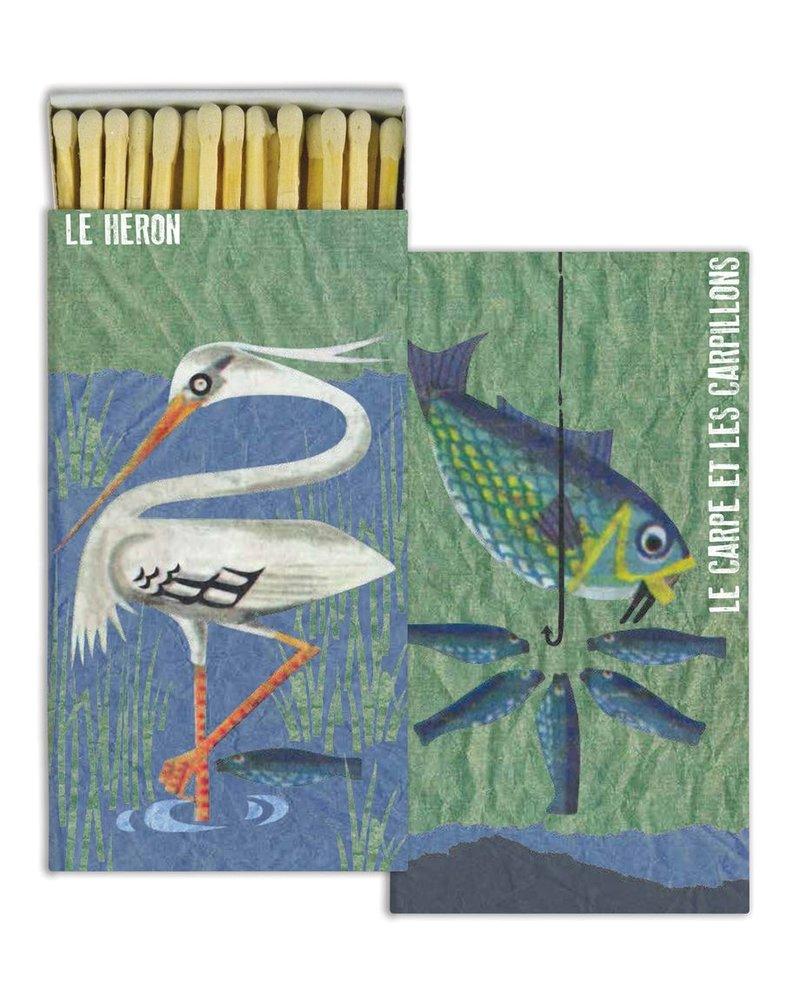 HomArt French Heron and Carp HomArt Matches - Set of 3 Boxes