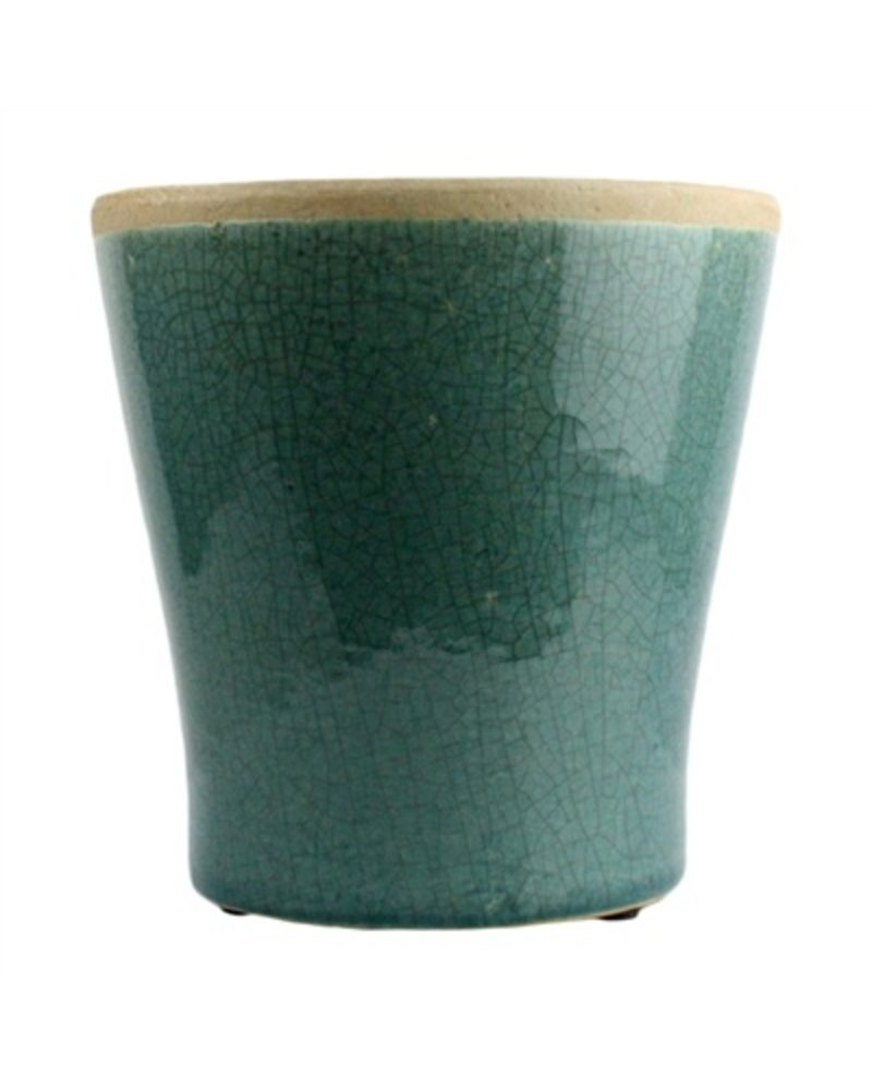 HomArt Mulberry Ceramic Cachepot - Med Teal