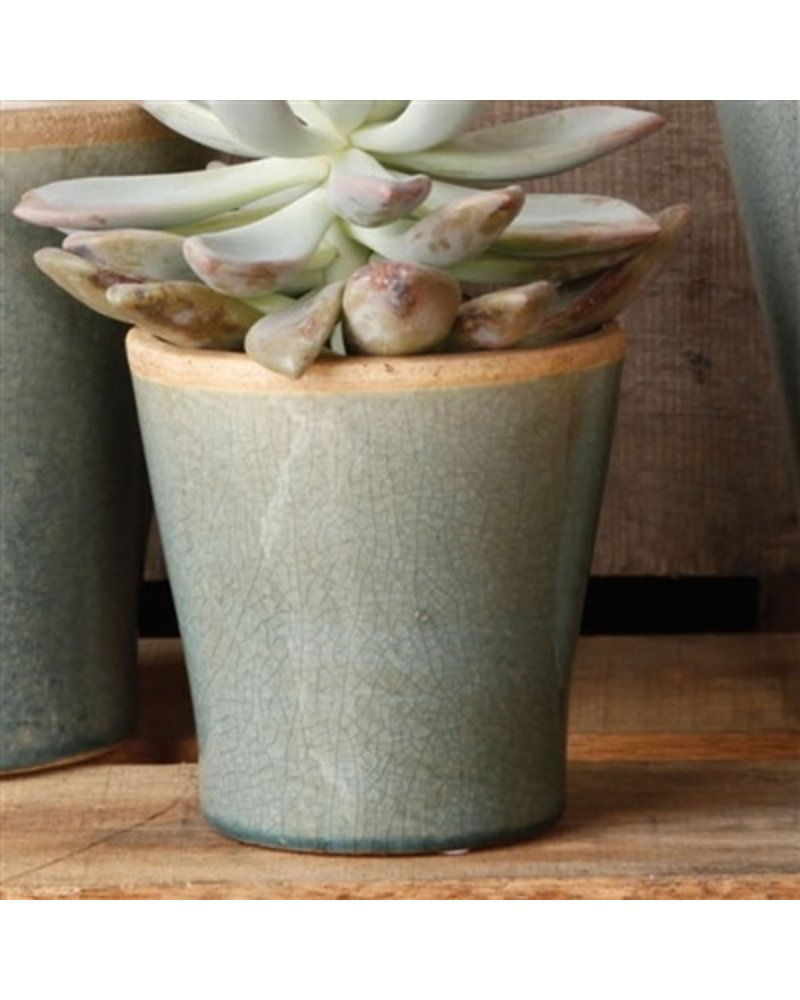 HomArt Mulberry Ceramic Cachepot - Sm Teal