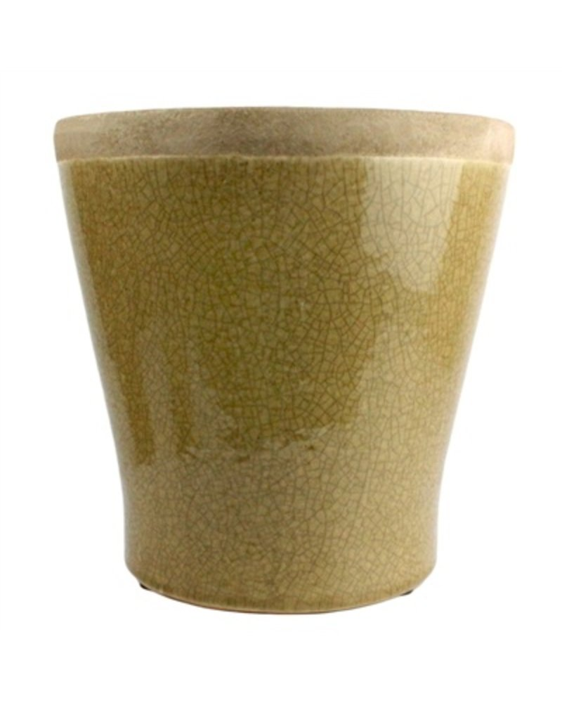 HomArt Mulberry Ceramic Cachepot - Lrg Yellow