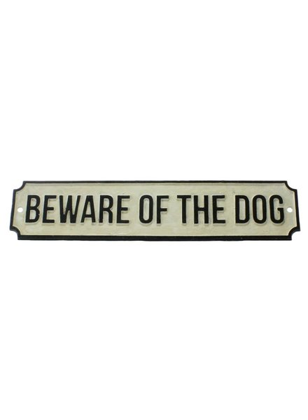HomArt Cast Iron Sign - BEWARE OF THE DOG