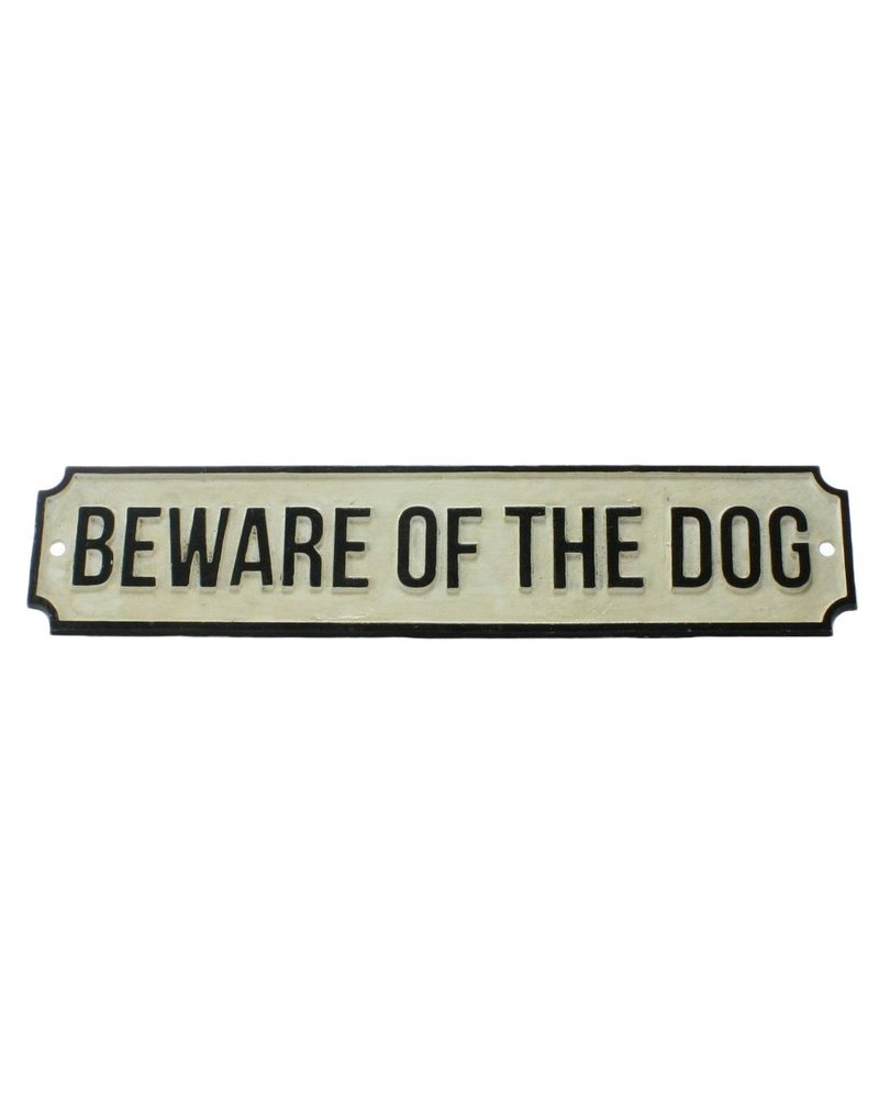 HomArt Cast Iron Sign - BEWARE OF THE DOG