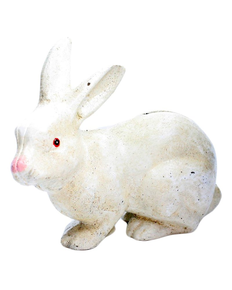 HomArt Mr. Rabbit Money Bank - Cast Iron White