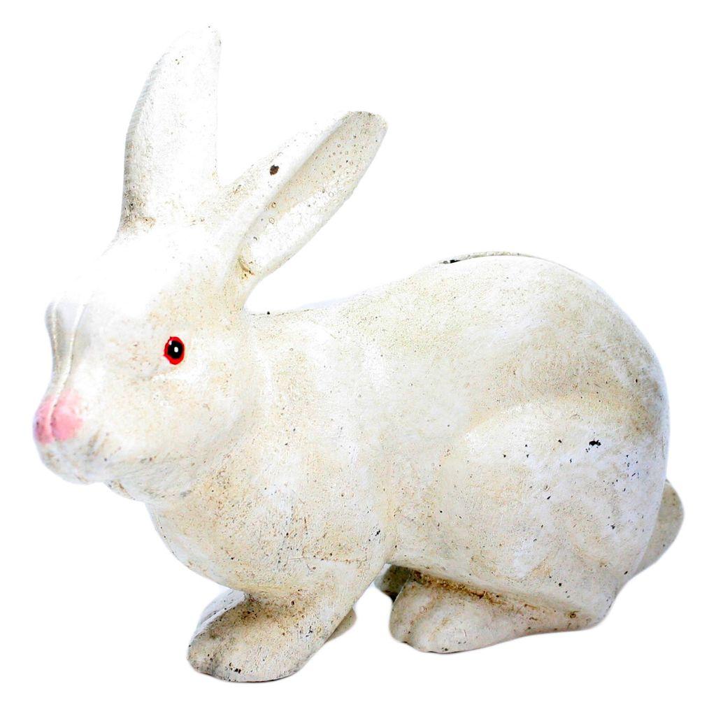 HomArt Mr. Rabbit Money Bank - Cast Iron White