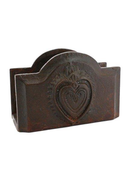 HomArt Sacred Heart Letter Holder - Cast Iron Rust