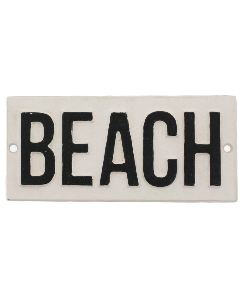 HomArt Cast Iron Sign - BEACH