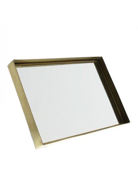 HomArt Lira Brass Framed Mirror - Sm Rect