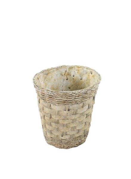 HomArt Cement Basket - Twined Weave - Rnd - Med