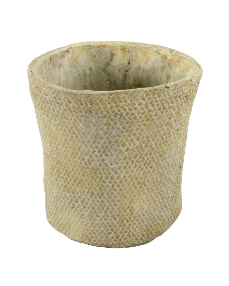 HomArt Cement Basket - Twill Weave - Rnd