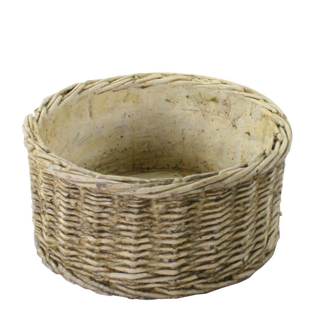 HomArt Cement Basket - Twined Weave - Rnd - Wide