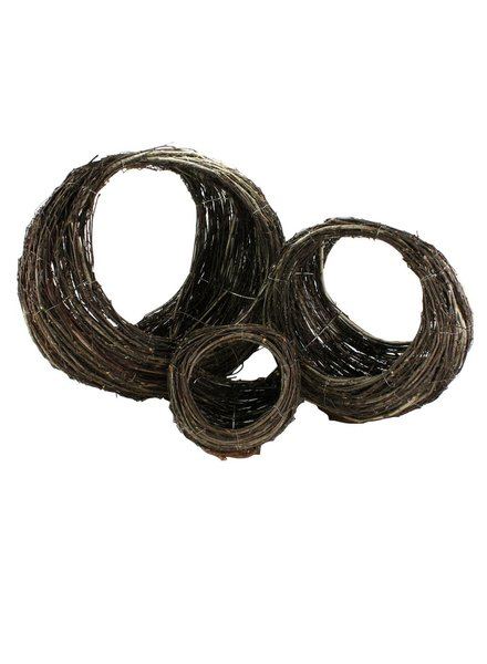 HomArt Willow Ellipse Baskets - Set of 3 Natural