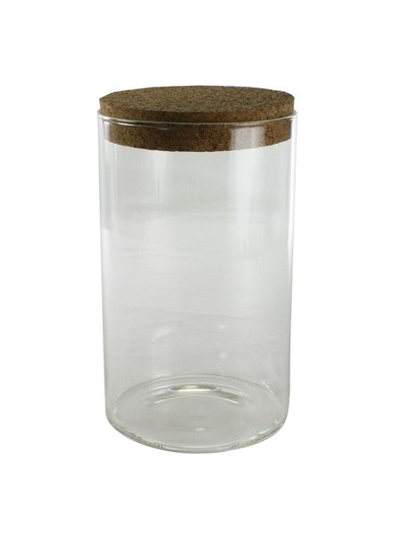 HomArt Stein Glass Jar with Cork Lid - Lrg Clear