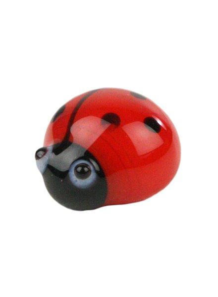 HomArt Glass Ladybug Bakers Dozen Red-Black