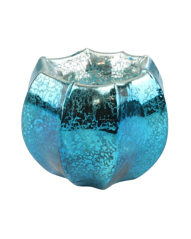 HomArt Mercury Glass Tealight Holder Antique Teal