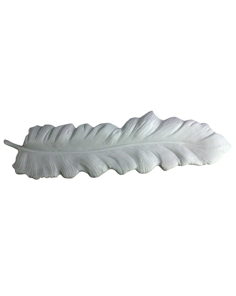 HomArt Ceramic Feather Tray White