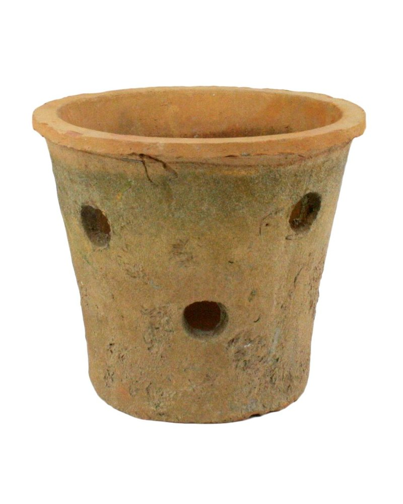 HomArt Rustic Terra Cotta Orchid Pot Antique Red