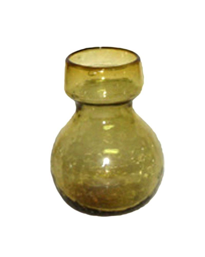 HomArt Bulb Vase Recycled Amber