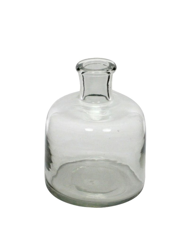 HomArt Milton Glass Bottle - Sm Clear