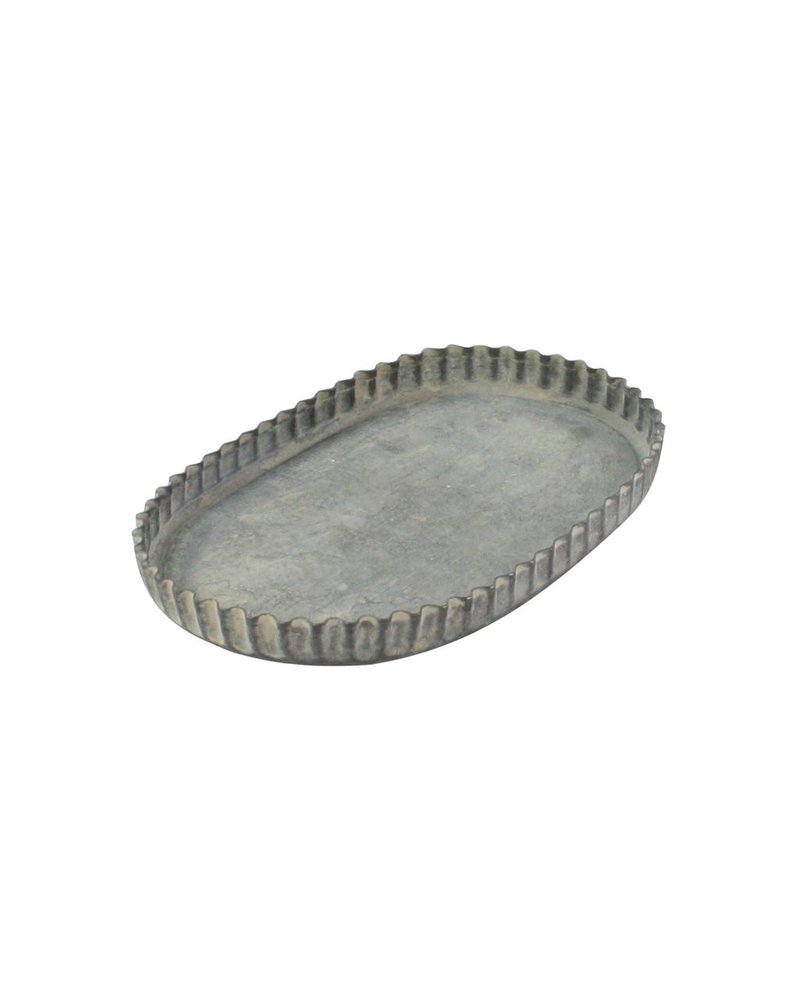 HomArt Ross Fluted Tray - Oval - Sm