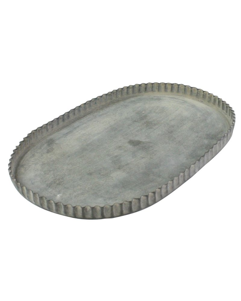 HomArt Ross Fluted Tray - Oval - Lrg