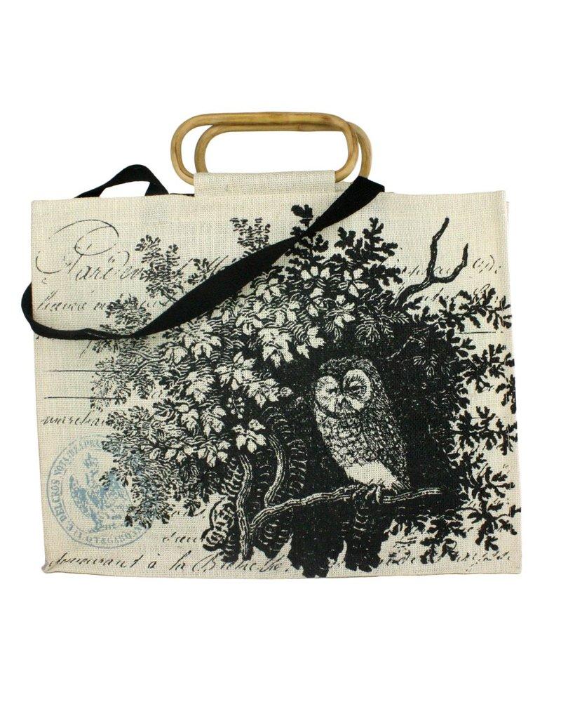 HomArt Jute Tote - Tawny Owl