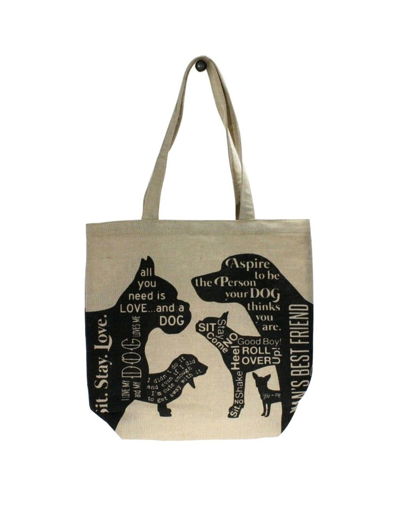 HomArt Juco Tote Bag Man's Best Friend