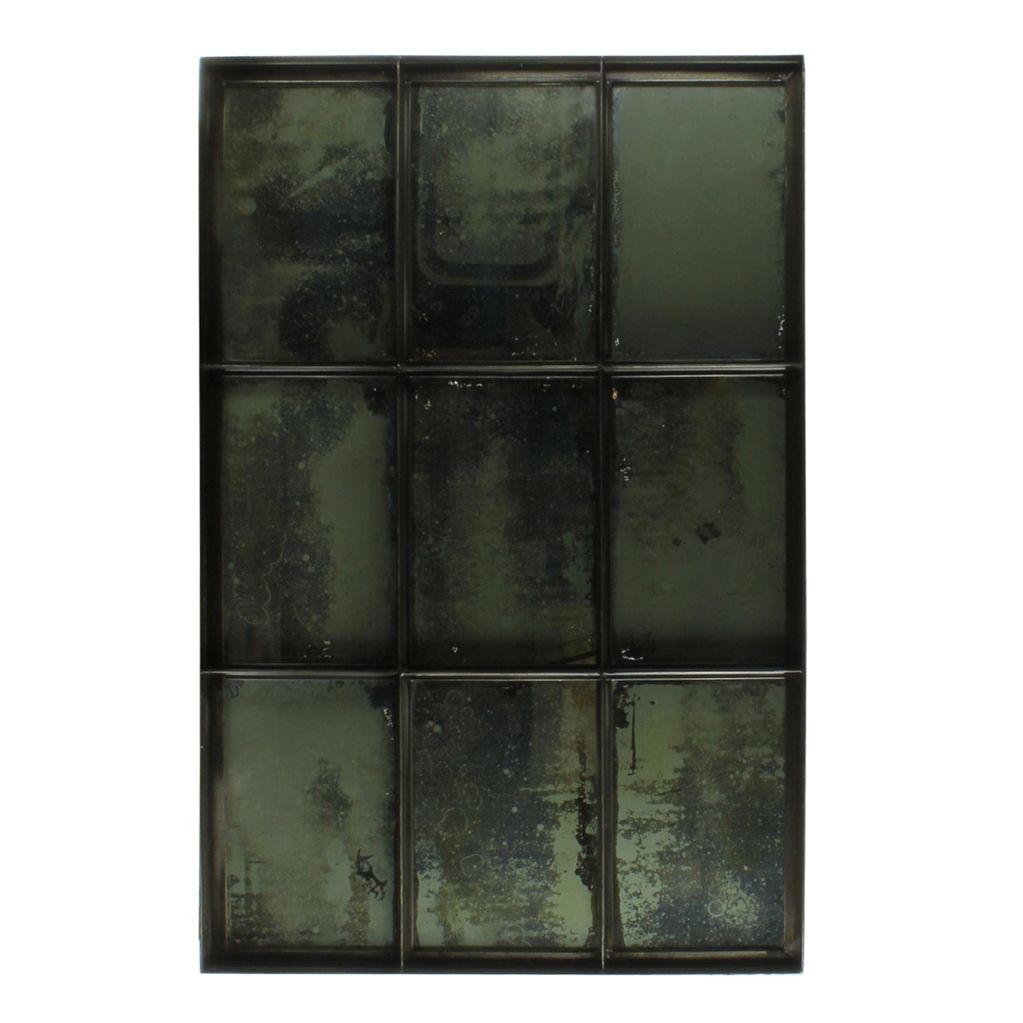 HomArt Carrefour Iron Mirror - 9 Panes - Antique Nickel
