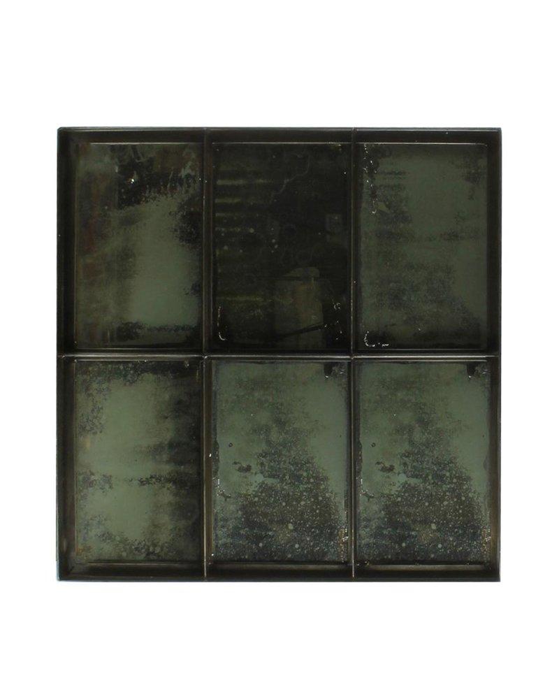 HomArt Carrefour Iron Mirror - 6 Panes - Antique Nickel
