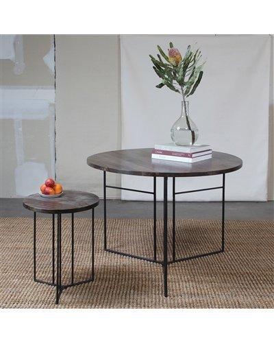 HomArt Studio Collapsing Round Side Table Grey
