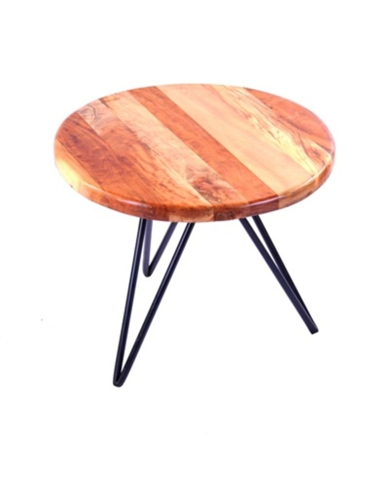 HomArt Harpoon Side Table - Wood and Iron Natural