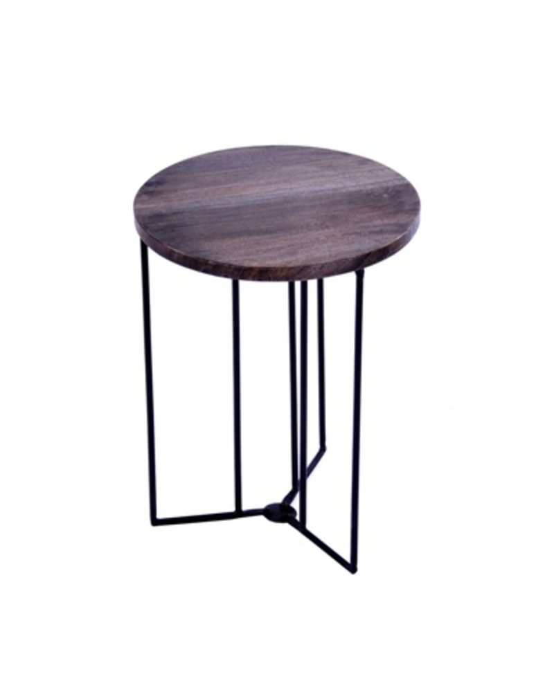 HomArt Studio Collapsing Round Side Table Grey AREOhome