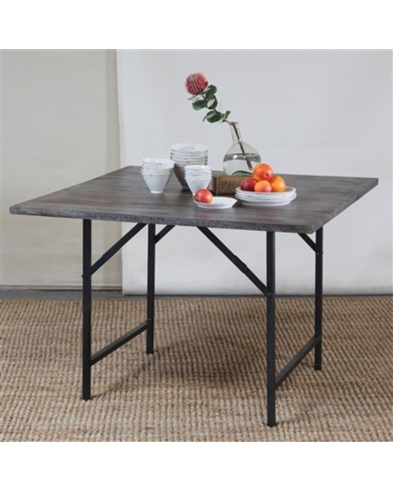 HomArt Camp Folding Table - Sqr Grey
