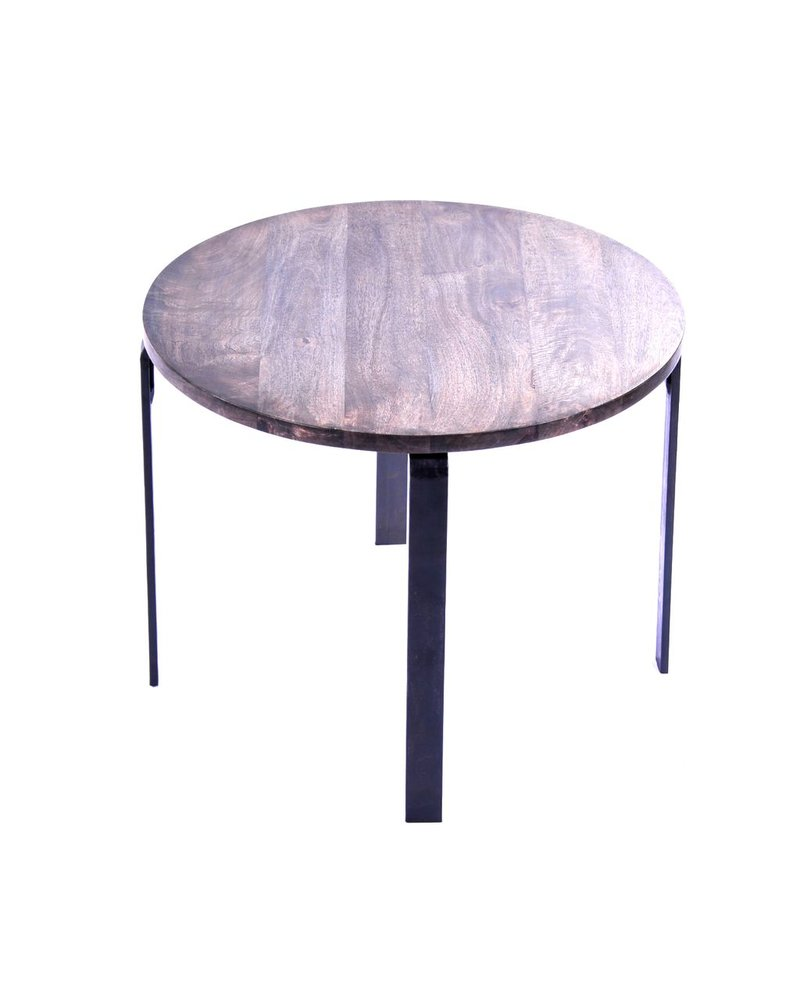 HomArt Loft Round Dining Table Grey