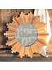 HomArt Sunburst Wood Mirror