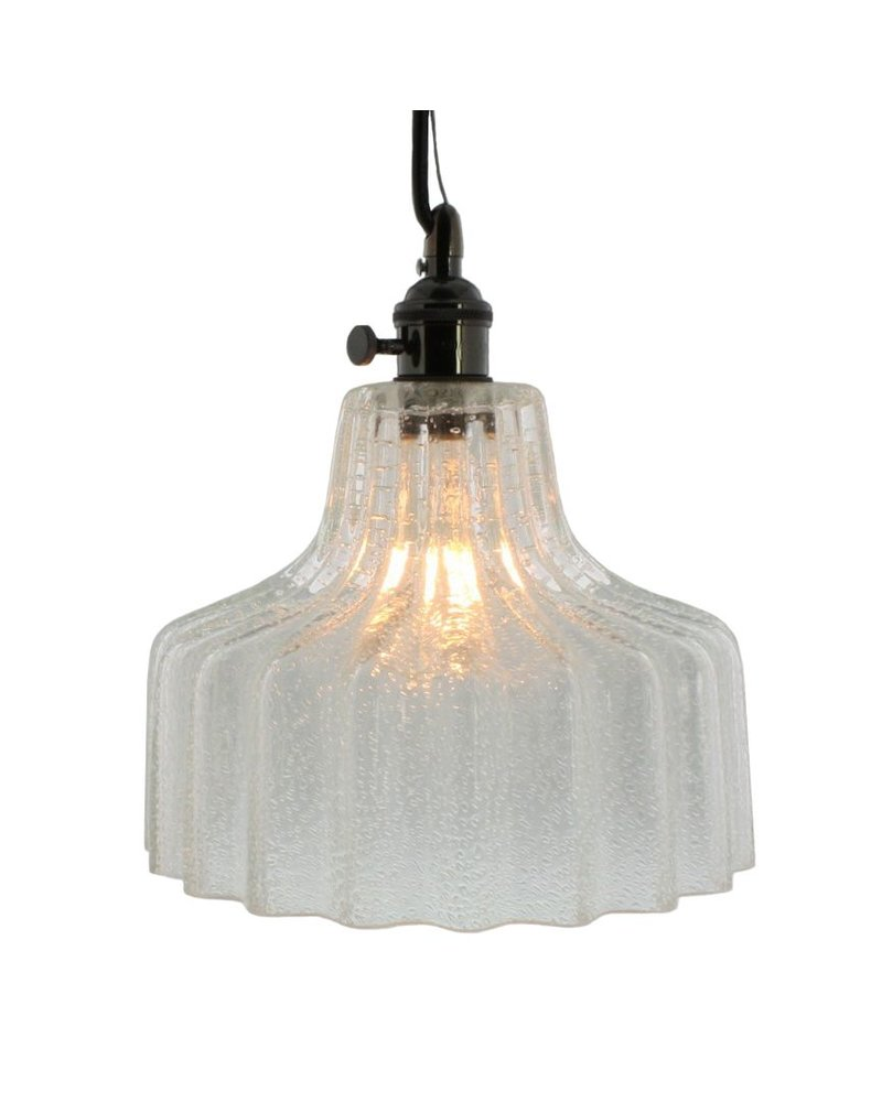 HomArt Stina Glass Pendant Light - Med - Clear