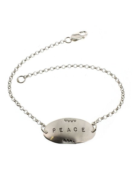 Peace-Sterling Silver Affirmation Bracelet
