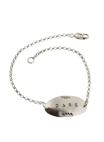 Dare-Sterling Silver Affirmation Bracelet