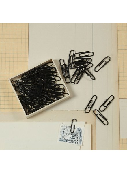 HomArt Black Paper Clips, Box of 100