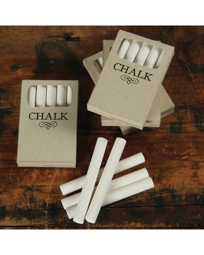 HomArt Box of Chalk - 5 Sticks White