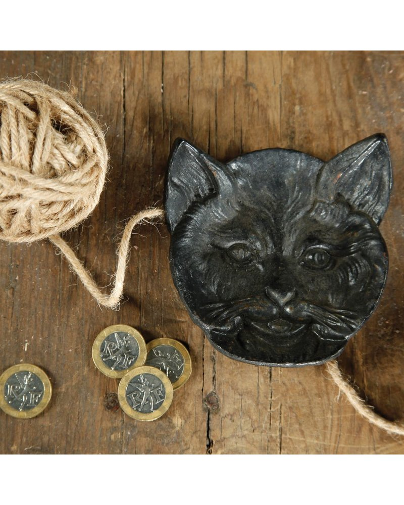 HomArt Cat Face Dish - Cast Iron Black