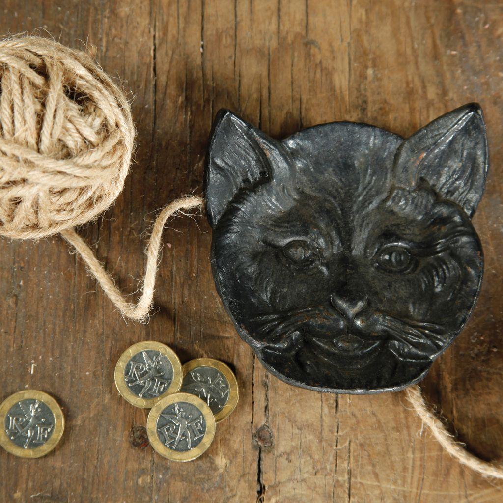 HomArt Cat Face Dish - Cast Iron Black