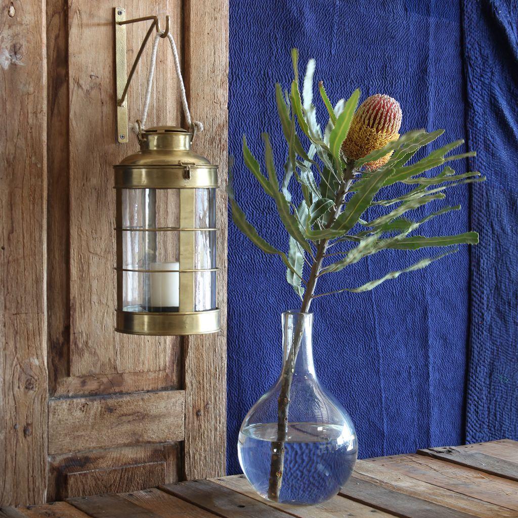 HomArt Caravan Brass Lantern - Sm