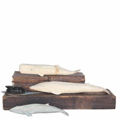 HomArt Carved Wood Whale Sperm Whale