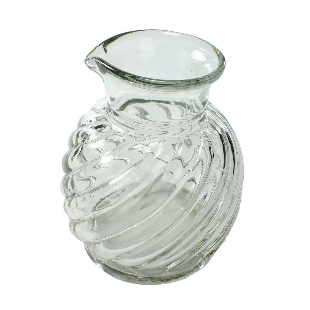 HomArt Clare Pitcher - Swirled Clear