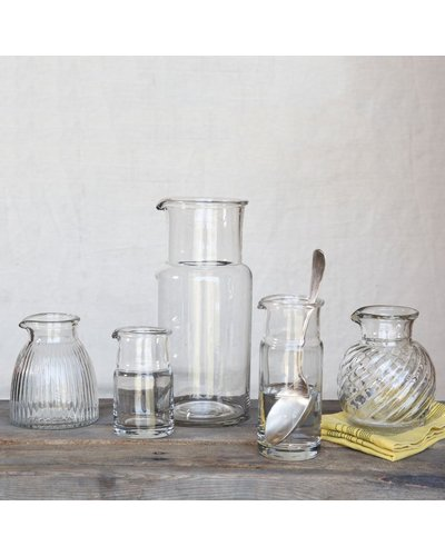 HomArt Clare Pitcher - Swirled Clear