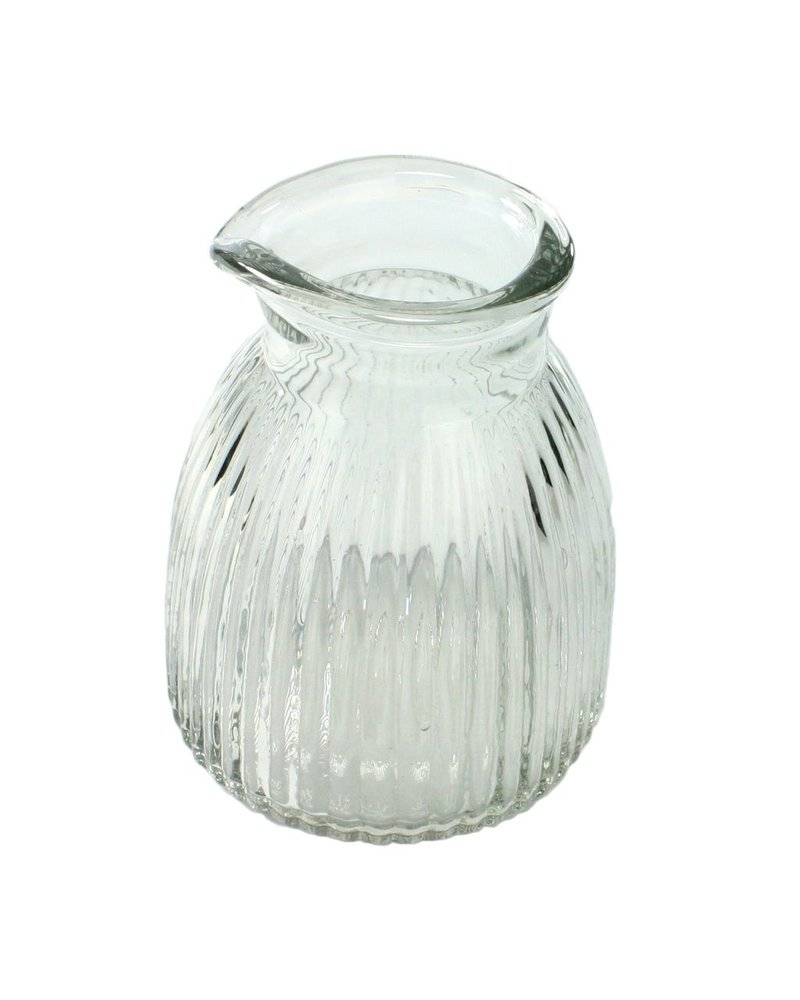 HomArt Clare Pitcher - Scalloped Clear