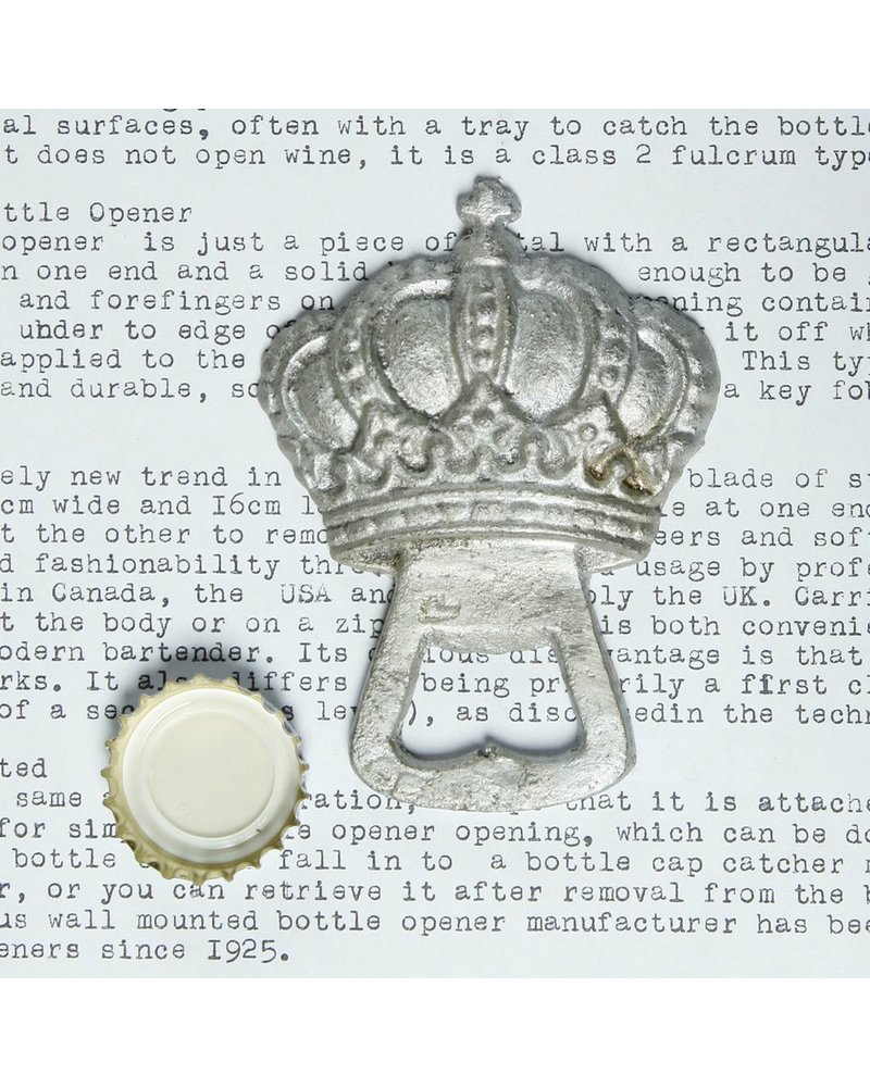 HomArt Silver Crown HomArt Cast Iron Bottle Opener