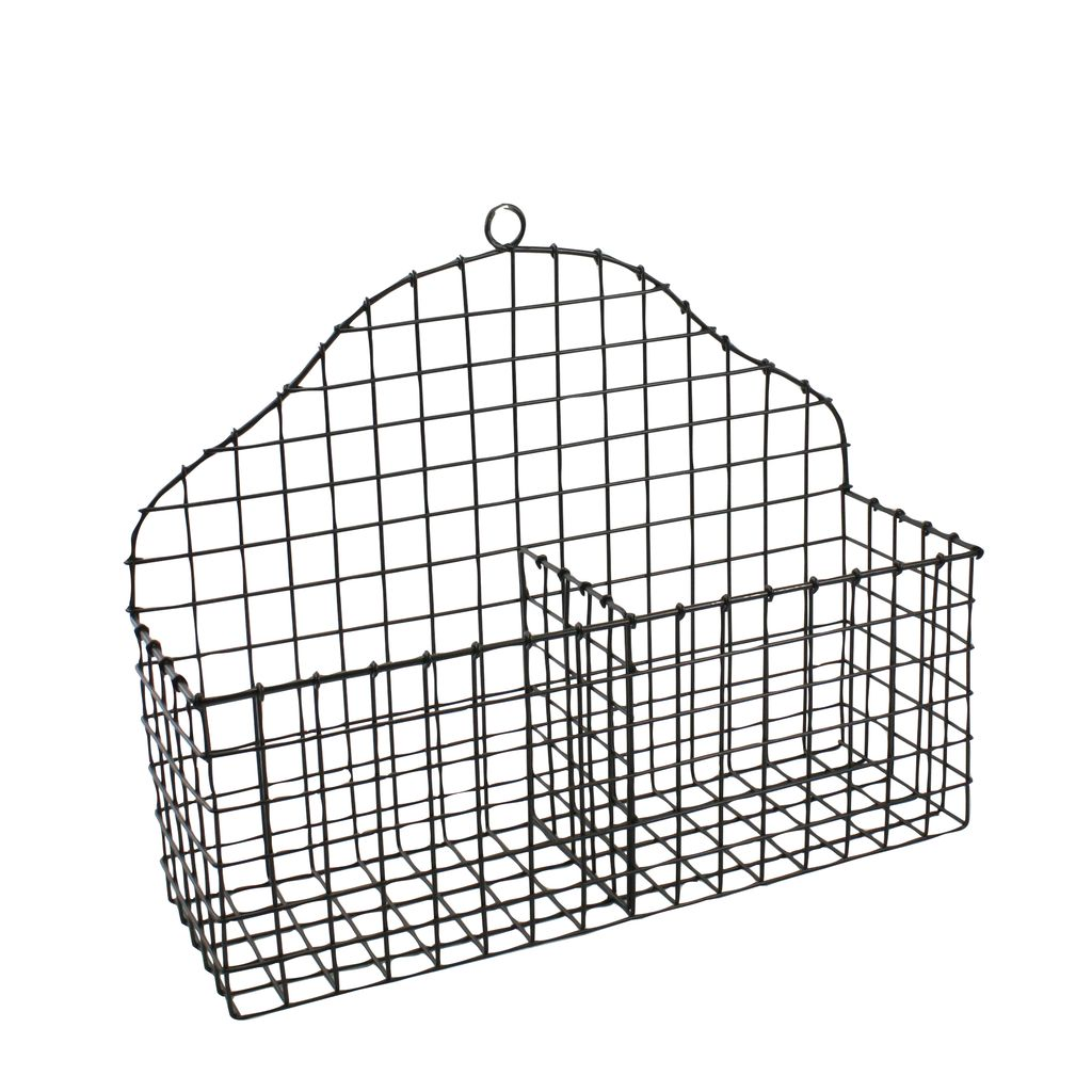 homart darby metal letter basket