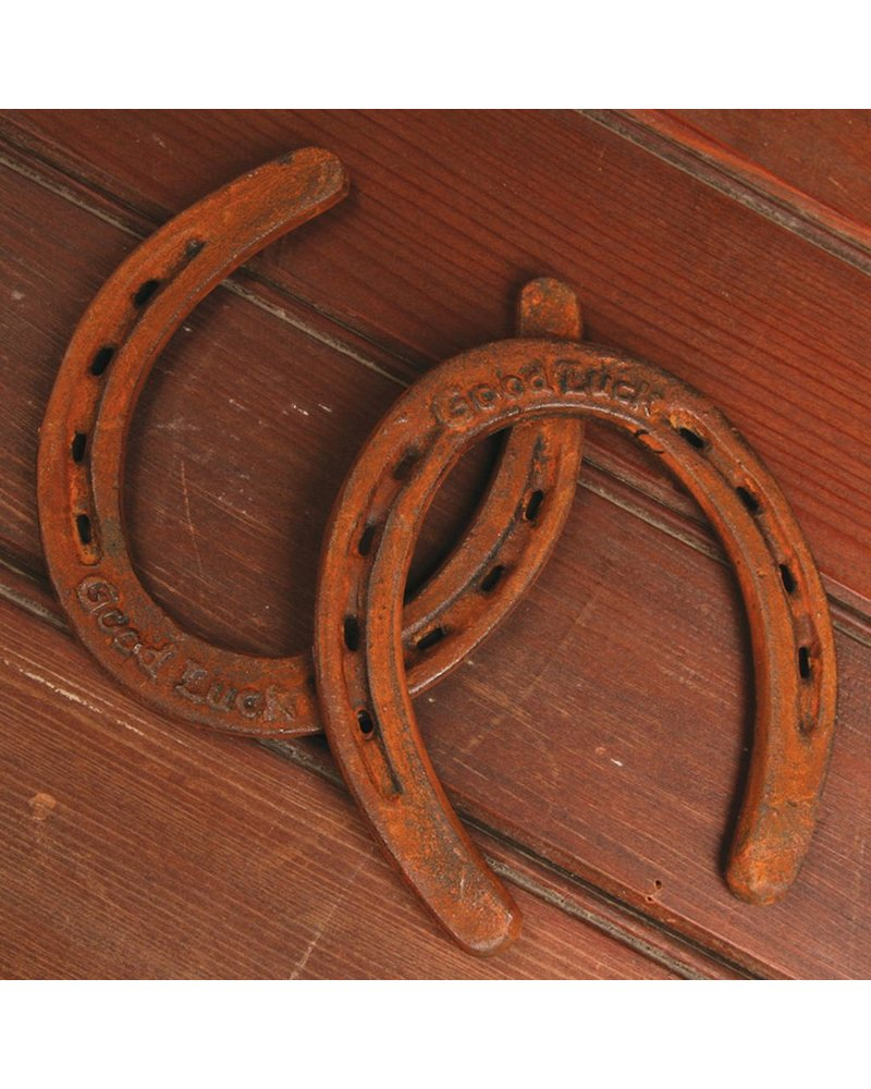 HomArt Good Luck Horse Shoe - Cast Iron Rust
