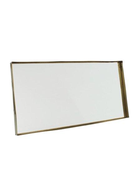 HomArt Lira Brass Framed Mirror - Lrg Rect